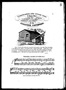 "Sheet music for ""Tippecanoe and Tyler Too"""