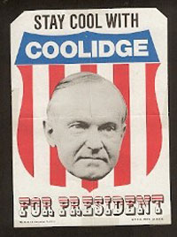 Campaign poster for Calvin Coolidge